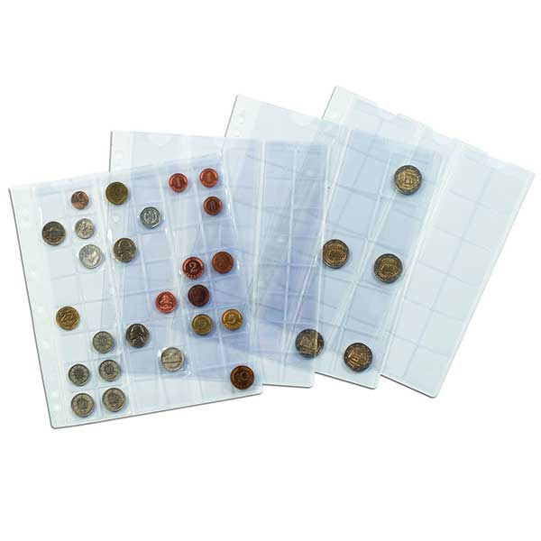 Lighthouse Coin Sheets NUMIS - 6 pockets upto 55mm