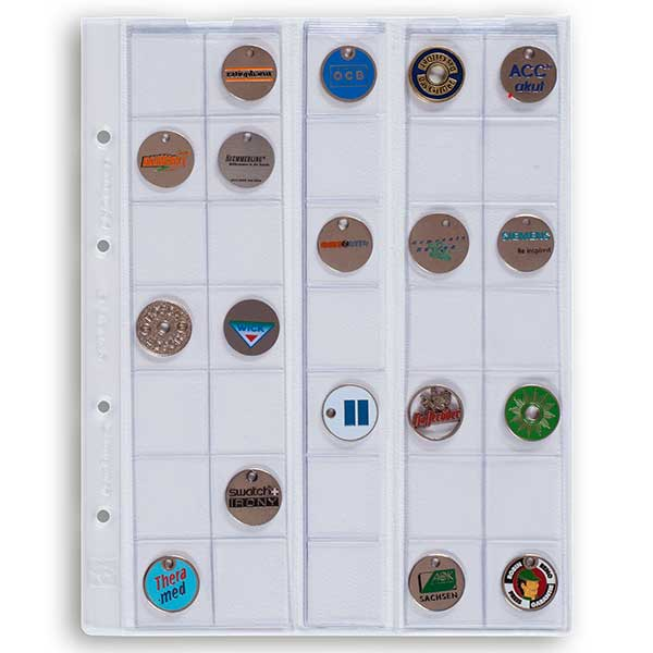 Lighthouse Coin Sheets OPTIMA - for 35 Coins upto 27mm Clear