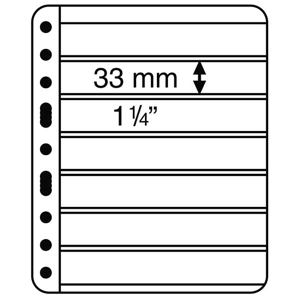 Lighthouse Plastic Pockets VARIO PLUS - Extra strong film - 7 way division - Black