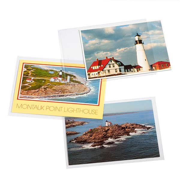 Lighthouse Protective Sheets for Stamps and Picture Postcards for Postcard upto 150 x 107mm - Clear