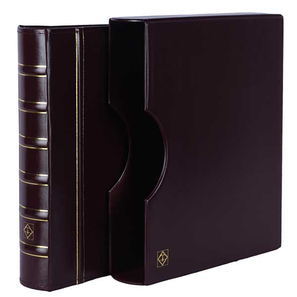 Lighthouse Ringbinder GRANDE - classic design incl. Slipcase - Red