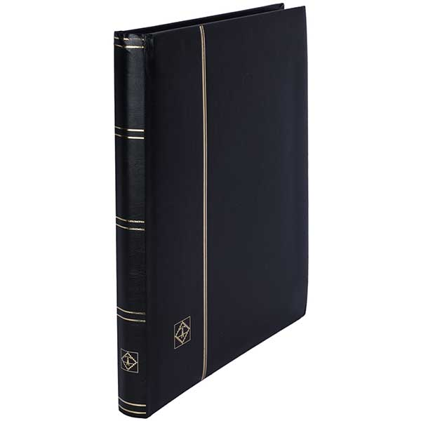 Lighthouse Stockbook A4 - 32 black pages - Padded Cover - Black