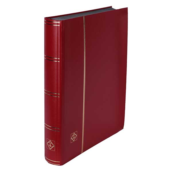 Lighthouse Stockbook A4 - 64 Black pages - Non-padded cover - Red