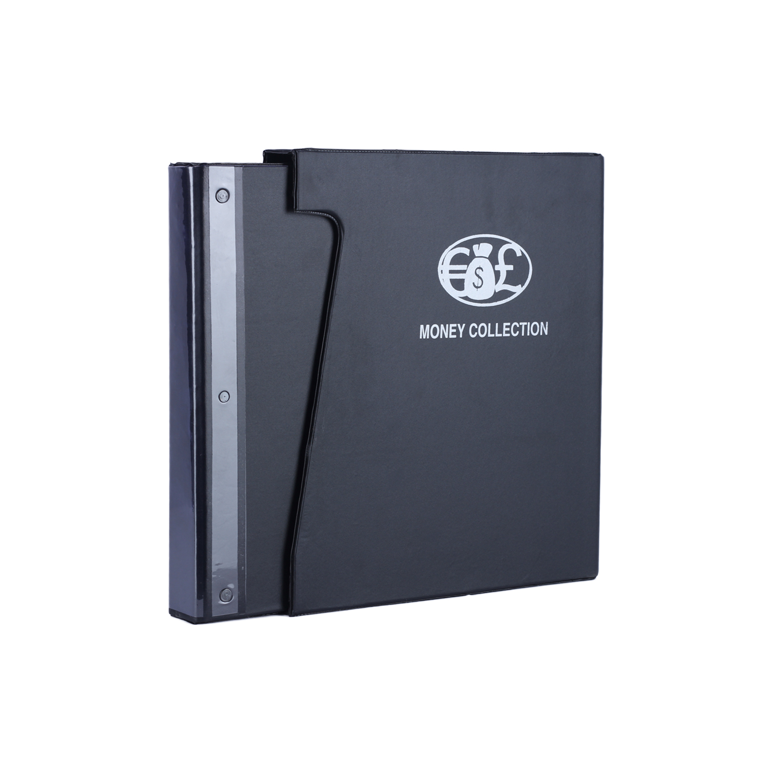 PVC Ring Binder with Dust cover - Black Coin Album