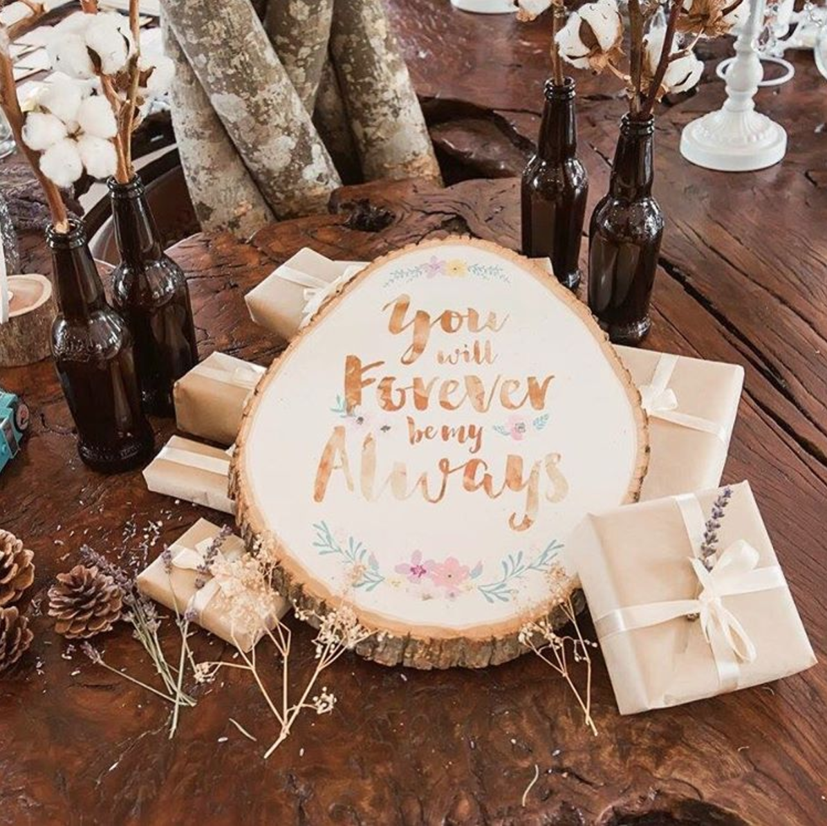 Love quote wood slice by Miraculove