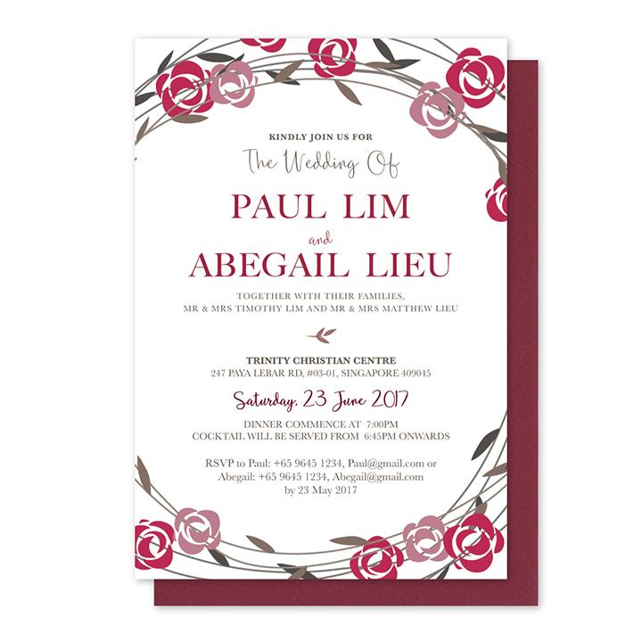 Minimalistic spring floral invitation card miraculove close stopboris Choice Image