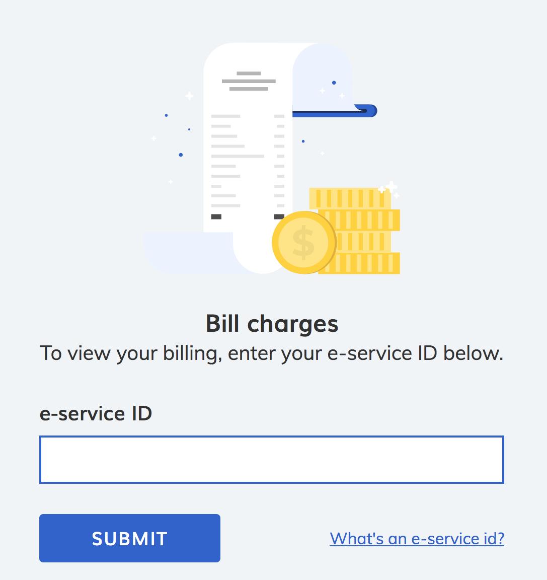 Form FAQ Billing Panel E-service ID