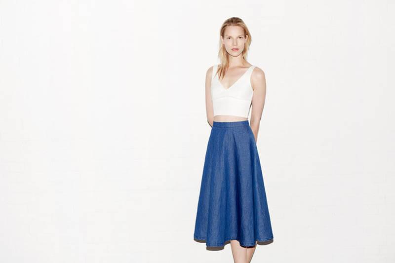 Chân váy denim: món đồ thời trang chưa bao giờ lỗi mốt