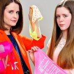 Victorias Secret Underwear-Annabel Cole & daughter Elsa 13 yrs