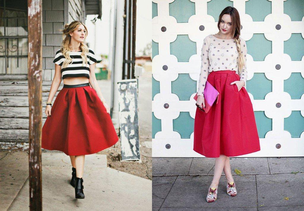 Mặc đẹp với chân váy midi dáng xòe không hề khó như bạn nghĩ