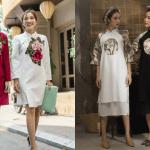 Chán áo dài, hãy đến 4 shop sau mua áo đầm gấm diện trong Tết 2018