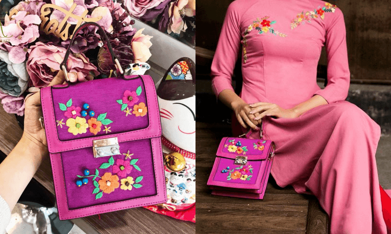 Tổng hợp những shop bán túi xách thêu tay đẹp cho nàng diện Tết