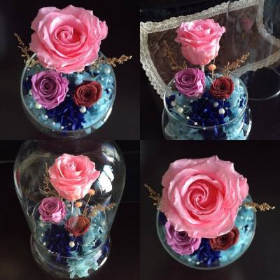 🌹✨Sparkling Rose Dome Series✨🌹   💖🎄Glittering Pink Sapphire Rose with small lilac rose and baby brown rose; height of glass dome is 20 centimeters🎄💖   🌸Facebook page: https://www.facebook.com/LadyJFloral/ 🌸  ___________________________💟 Please like and share if you love it 💟 🌹 Custom-made orders are welcome 😄 📧 For orders or more information, please FB inbox us or email to ladyj.floral@gmail.com  #preservedflower #preservedflowers #roses #rose #pink #sapphire #lilac #blue #brown #flowers #flower #navy #Christmas #LadyJFloral #Florever #Japan #Primavera #聖誕節 #禮物 #保鮮花 #永生花 #不凋花 #gifts #decorations #ornaments #floral #designs #擺設 #玫瑰 #玫瑰花