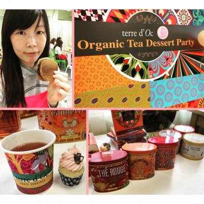 Miss tiara x terre d' Oc organic tea dessert party 🎈  #misstiara #terredoc #organic #tea #dessert #party #earlgrey #銅鑼燒
