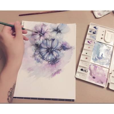 我最鍾意畫花花花
