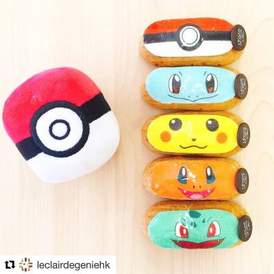When everyone (including me!) goes crazy for Pokemon Go! These eclairs look ultra yummy ☺️ . #Repost @leclairdegeniehk ・ #hkfoodie #hkfood #leclairdegeniehk #eclair #personalised #pokemongo #pokemon #閃電泡芙 #泡芙