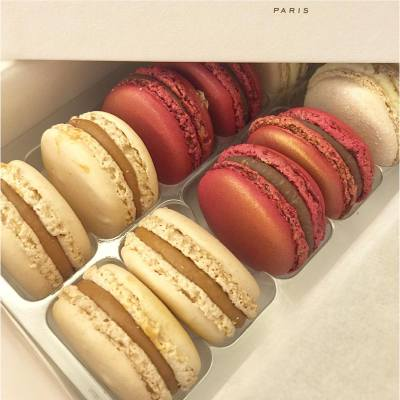 Foie gras macaron is back 😍😍😍 the combo with chocolate is one of my favorite flavors and comfort food!  #macaron #christmas #pierreherme #bestcomfortfood