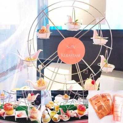 【落雨都要high tea】天氣好食high tea, 天氣唔好更加要high tea! 今次Kérastase就聯同Hotel sáv推出法式下午茶。有靚靚既摩天輪食物架,配上Parisian style食物,下雨天都可以係happy day!  供應期由即日至9月底 😊 #misstiara #hotelsav #kerastasehk #hkafternoontea #yummy #hk #hkfoodie