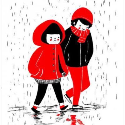 與喜歡的人在一起,就算什麼都不做也會覺得很幸福 ♥   Like MissTiara, Social Club for Ladies  -- Source: philippajrice #misstiarahk #misstiaralifestyle #愛情 #插畫 #下雨天