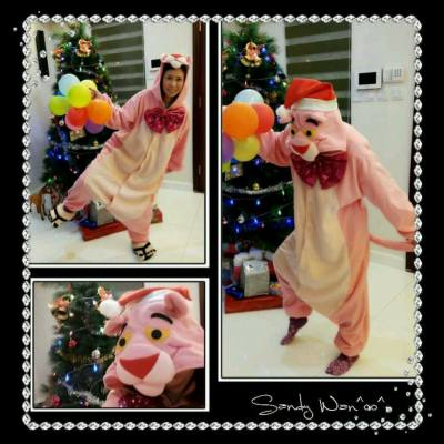 My favorite Pink Panther~   #xmas #pinkpanther #party