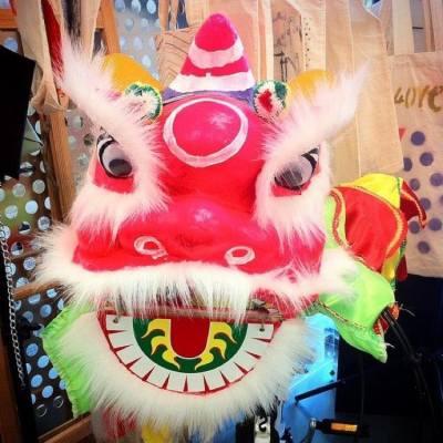 我 #手作 #handmade #手繪 #handPainting 小獅頭  #lion 今年 #ChineseNewYear #CNY #新年 可以 #舞獅