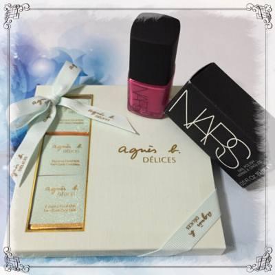 收到P&G PR 安排給 星級試用大使的窩心小禮物 大開心了, 其實生活真的需要多一甜  #livingartist #png #beautybloger #BeautySearch #beauty #new #trial #lifestyleblogger #hkig #hkblogger #life #生活家 #星級試用大使 #試用 #productTrial #nail #chocolate #Agnesb #NARS #nailpolish #gift