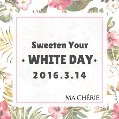 Sweeten Your White Day ! 希望大家同MA CHÉRIE一樣,繼續寵愛自己,愛錫自己,每一日都散發浪漫清新氣息♥ ★ Follow us on Instagram: macheriehk ★ MACHÉRIE 全線產品於萬寧獨賣  #macheriehk #macherie #macheriehongkong #314 #whiteday #sweetenyourwhiteday #happywhiteday