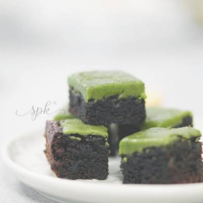 #matcha #chocolate #brownie