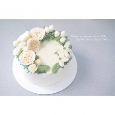#korean #buttercream #flower #cake