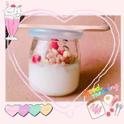 第一次自製乳酪~小成功❤️口味非常天然~重點是只加了小量蜜糖!不怕致肥✨ #DIY #Homemake #Yogurt #天然 #自製乳酪