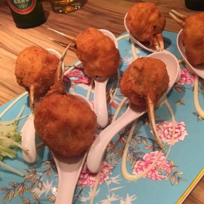 #炸蟹拑 很少地方有得食