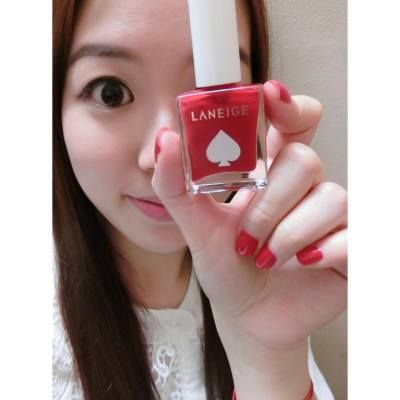 Beautiful merry christmas red nails style by Laneige limited nail set💅🏻💋💄❤️😘 @laneigehk #laneigehk #nails #red #xmas #merrychristmas #2015