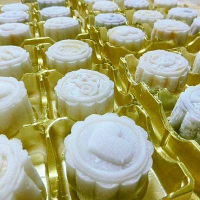 迎接中秋節來臨🐇🌝🌙🌛 事隔五年🌹 又一次冰皮月餅製作😘好玩😙希望好食😂😁😊 #mooncake #midautumnfestival  #handmade