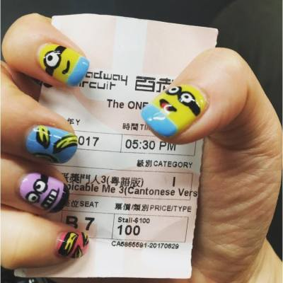 整咗 minions甲去睇 壞蛋掌門人,夠曬應景😂😂!套戲幾攪笑,至愛minions! #minions #壞蛋掌門人 #despicableme3 #despicableme #movie #卡通 #電影 #cherrypolawsharing #cherrypolaw小些牙 #hkblogger #blogger #hk #hkig #nails