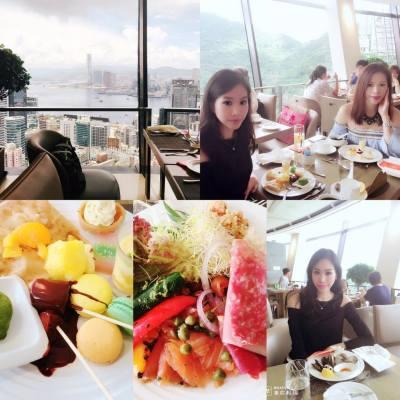 望維港景、旋轉餐廳食Lunch buffet #buffet #yammy  #buffet #自助山