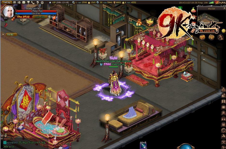 Quang cảnh đám cưới hoàng gia của Nhân và Ngọc trong 9K Truyền Kỳ