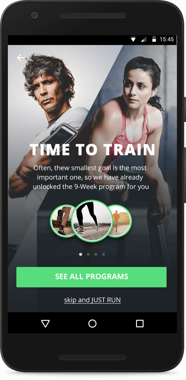 mobiefit run features