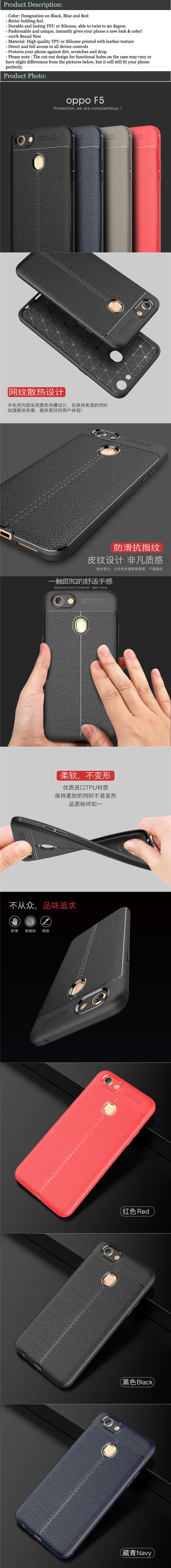 Tpu Leather Case For Oppo F7 F9 A3s Soft Auto Focus Note The Cut Out Design Functional Holes On May Vary Or Have Slightly Differences From Picture But It Will Still Fit Your Phone Well