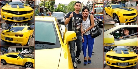 camaro bumblebee raffi ahmad 20 mobil mewah 2017