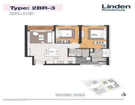EP0335 - 2 phòng ngủ - Empire City Thủ Thiêm