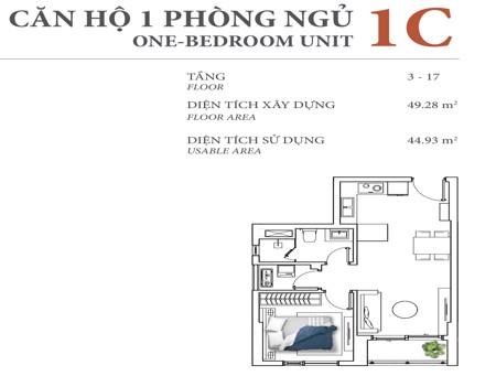 DI0990 - 1 phòng ngủ - Diamond Island