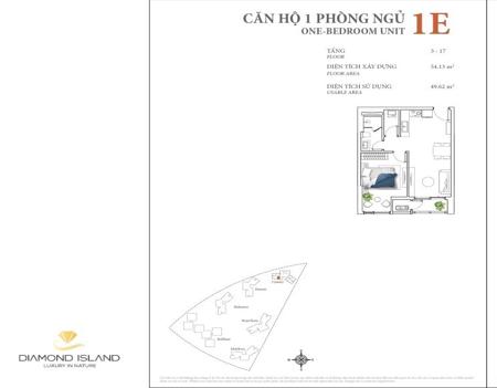 DI1040 - 1 phòng ngủ - Diamond Island