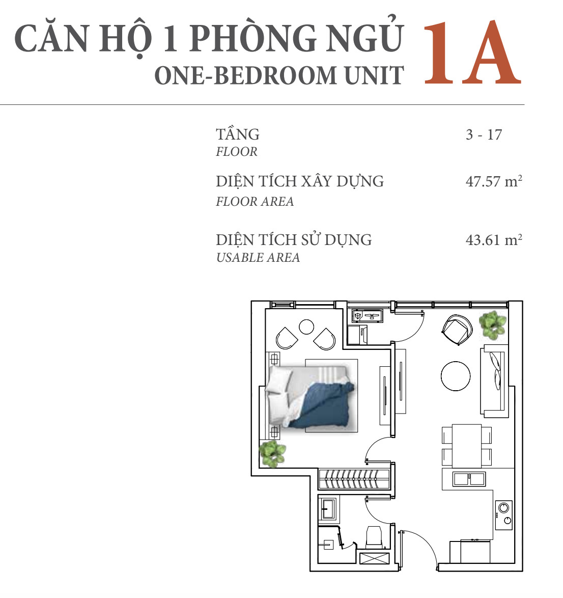 DI1403 - Diamond Island Apartment For Sale & Sale in Ho Chi Minh City - 1 bed