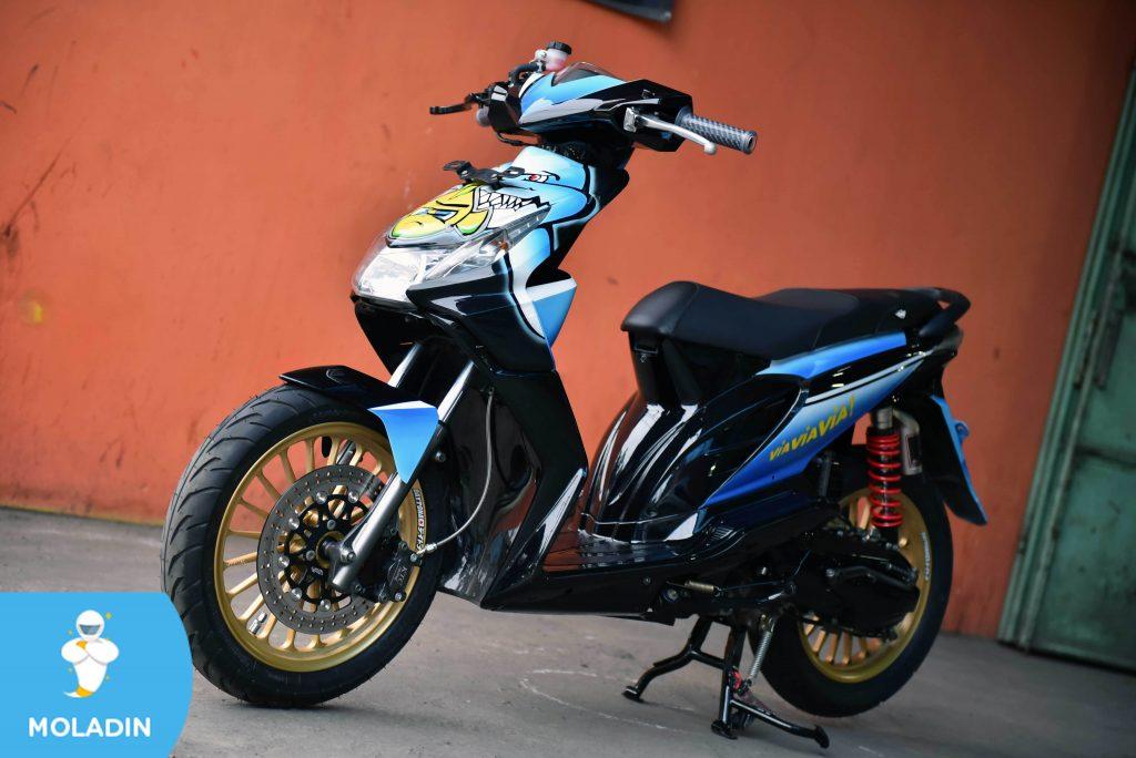 Modifikasi Motor Honda Beat Konsep Rossi Motogp