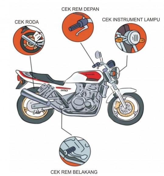 Cek Kondisi Motor Sebelum Mudik agar aman dan nyaman