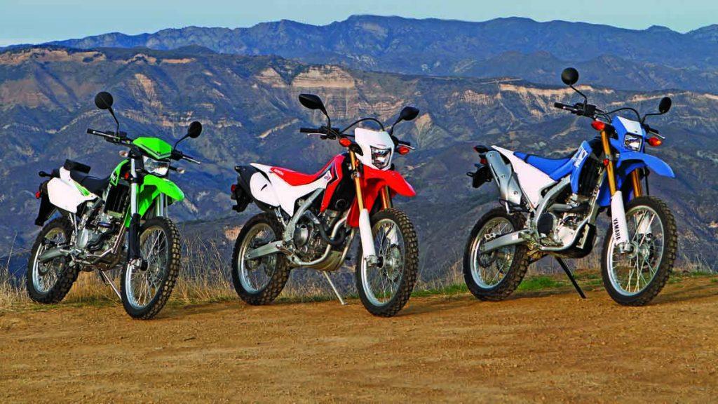 Kawasaki KLX250-Honda CRF250L-Yamaha WR250R