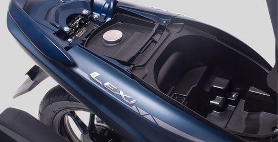Bagasi Yamaha Lexi Cukup Luas Untuk Menyimpan Barang