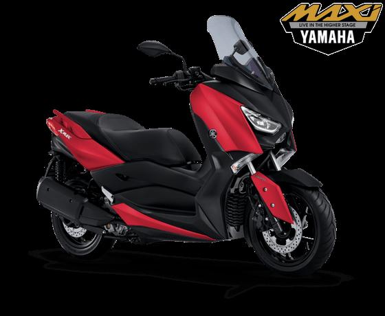 Gambar Yamaha XMAX 250 2018 terbaru Matte Red