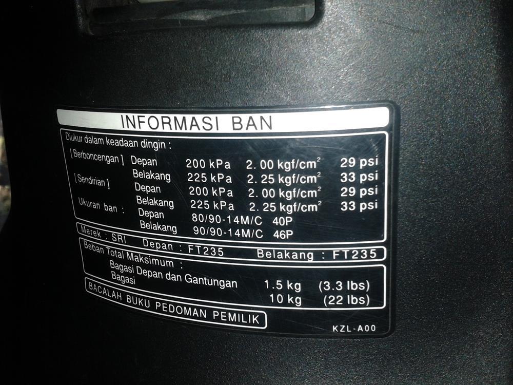 Jangan Lupa Untuk Mengikuti Acuan Tekanan Ban Saat Mengisi Ban Dengan Nitrogen
