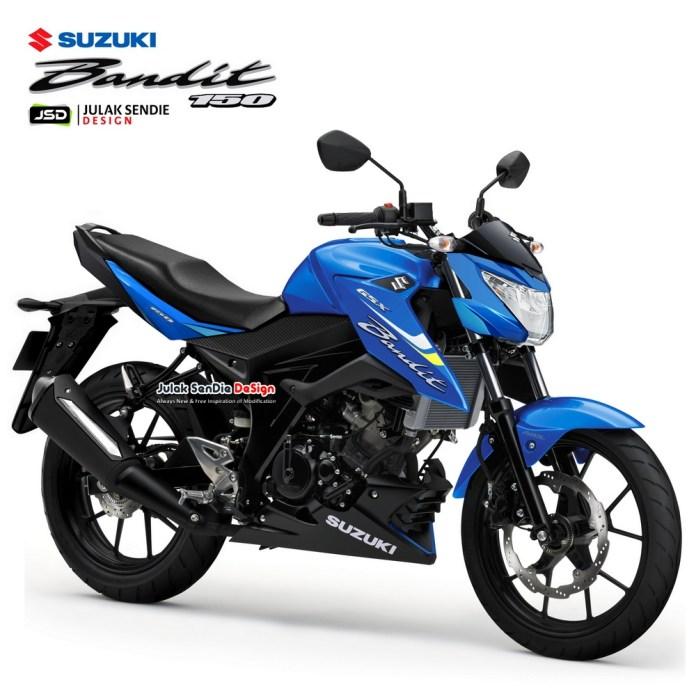 Render Suzuki Bandit 150 Terbaru, Desain Sesuai Spyshot
